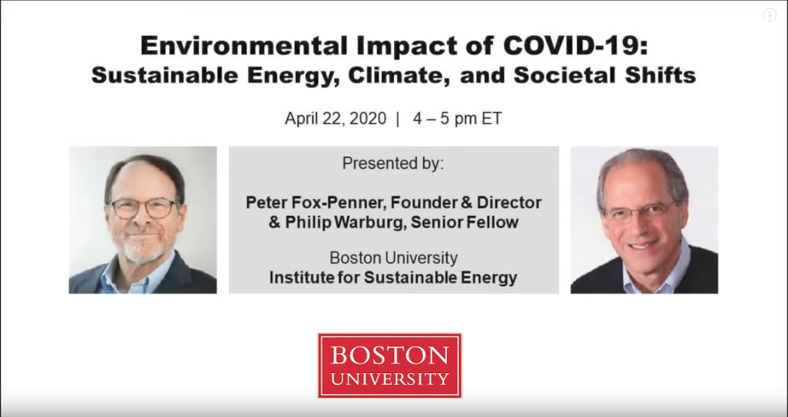 Environmental Impact of COVID-19: Sustainable Energy, Climate, and Societal Shifts